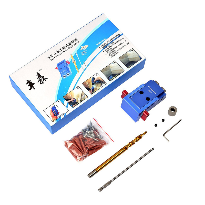 Mini Kreg Style Pocket Hole Jig Kit System For Wood Working & Joinery + 9.5mm Step Drill Bit & Accessories Wood Work Tool Set mini kreg jig pocket hole kit system for wood working