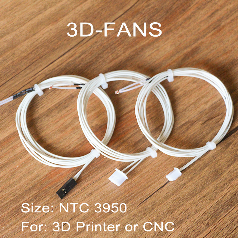 1pcs 100K Ohm NTC 3950 Thermistors With Cable Terminal Or DuPont Head For 3D Printer Reprap Mend