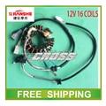 150cc engine stator magneto coil 12v 16 coils JIANSHE JS150-3/3c/ R6 JS150-AF2/F3 motorcycle accessories free shipping