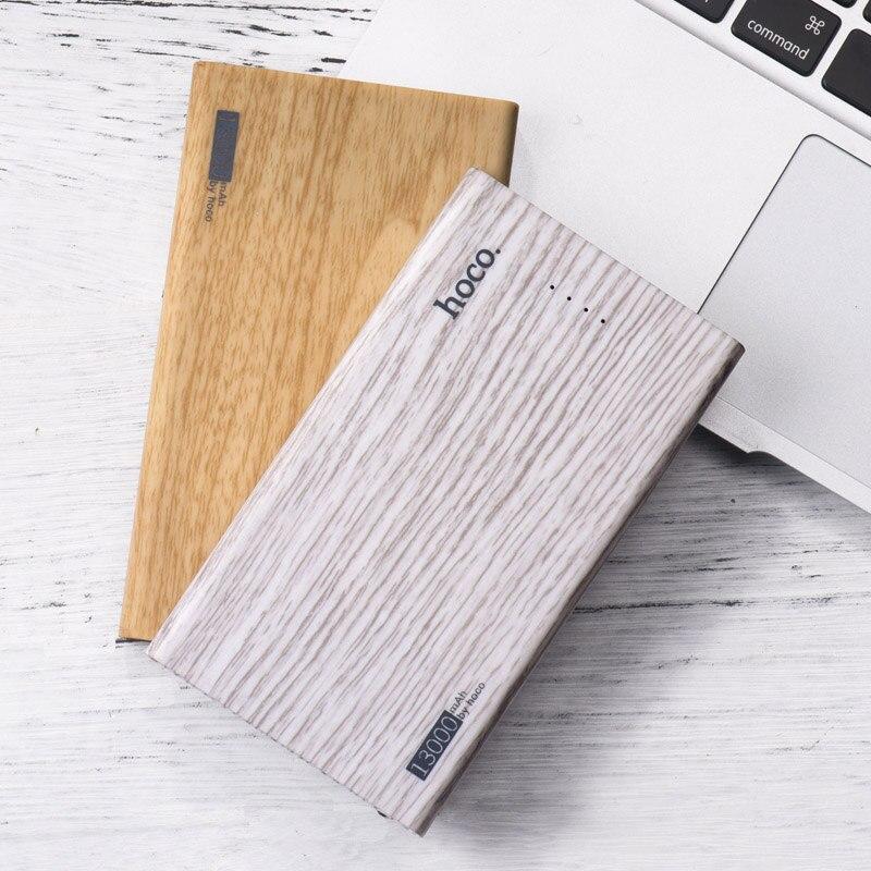 bilder für HOCO Reiseenergienbank 13000 mAh Dual USB holzmaserung design Portable Externe Ladegerät Power Für Handy