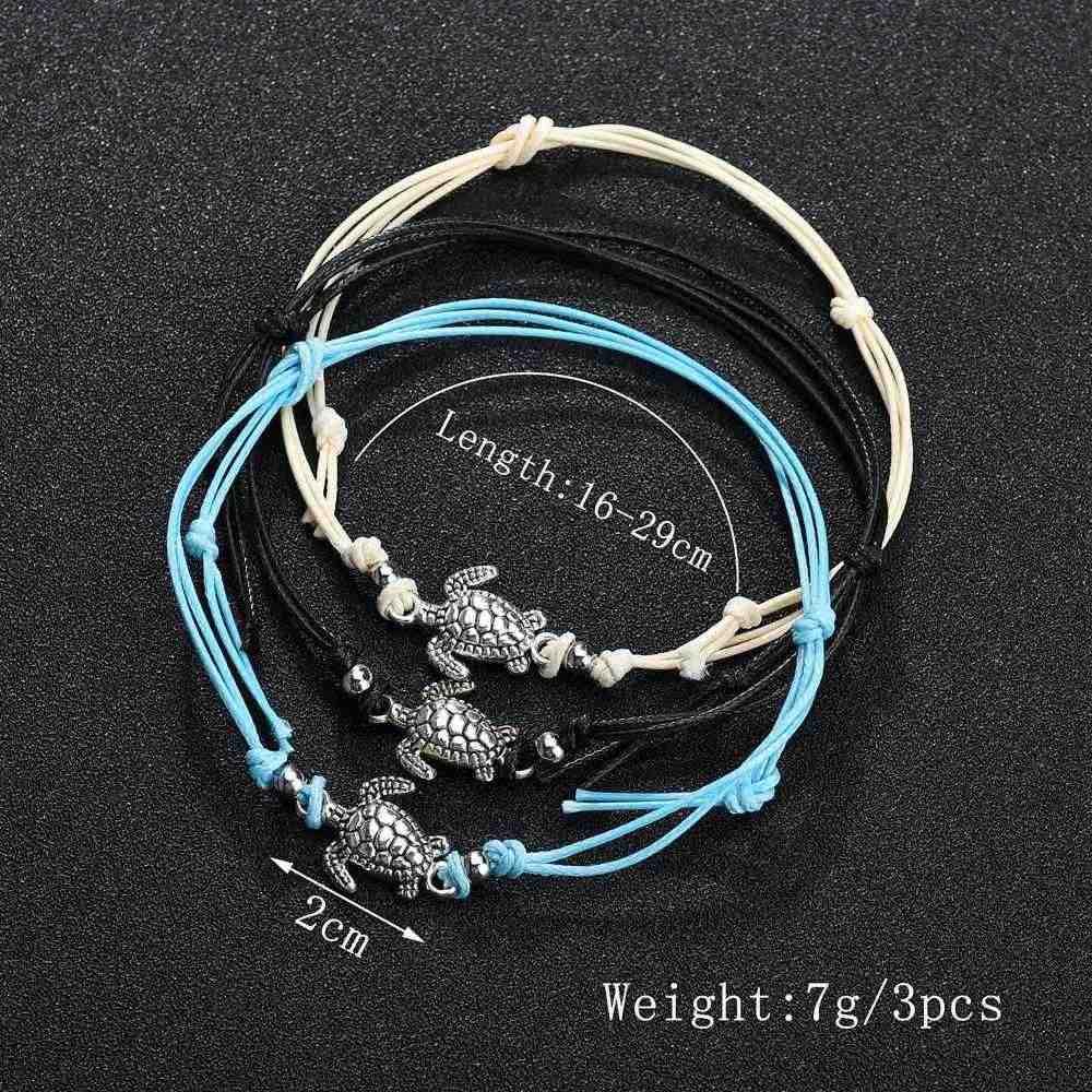 Modyle Summer Beach Turtle wisiorek kształtowany liny bransoletki na kostkę ze sznurkiem dla kobiet bransoletka na kostkę sandały damskie na łańcuszku na nogę biżuteria na stopy