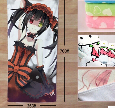Cute Anime Girl Bath Towel Set 35cm 70cm DATE A LIVE Nightmare Towels For  Student Child in Face Towels from Home   Garden on Aliexpress com   Alibaba  Group. Cute Anime Girl Bath Towel Set 35cm 70cm DATE A LIVE Nightmare