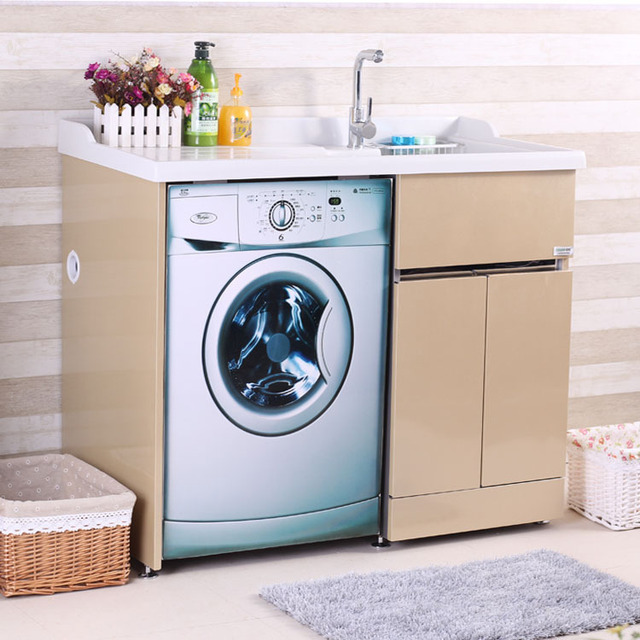 The New Stainless Steel Wash Cabinet Classic Wardrobe Cabinet Washing  Machine Balcony Cabinet B101 Special Wholesale