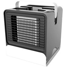 Personal Space Air Conditioner,4 In 1 Mini Usb Cooler,Humidifier,Purifier,Desktop Cooling Fan With 3 Speeds
