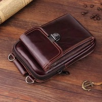 Vintage Leather Hook Pouch Phone Bag For iPhone Belt Holster Cover Backpack Wallet Phone Bag for Samsung Note9 For Xiaomi Mi 8
