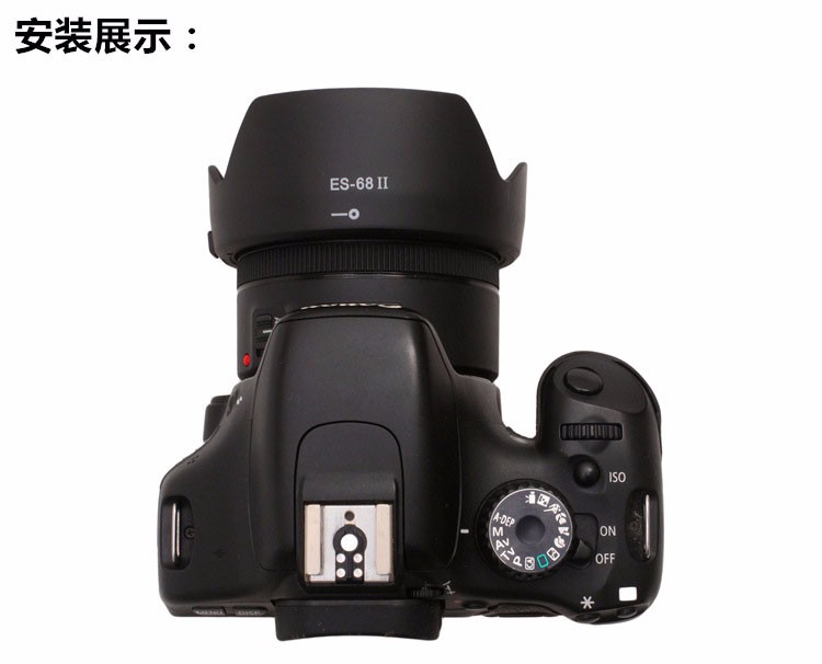 ES-68II Bayonet Mount flower Lens Hood For Canon EF 50mm f/1.8 STM Lens Replacement for Canon Lens Hood ES-68 II / ES-68 4