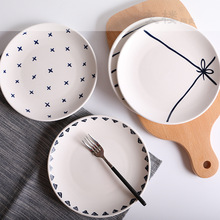 8 Inch Nordic Modern Minimalist Style Dinner Plates Ceramic Tableware Hotel Restaurant Cafe Cake Plate Dishes and Sets