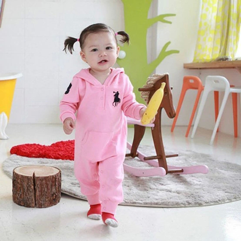 Spring Baby Rompers Baby Clothing for Newborns Baby Infant Jumpsuits Boys Girls Clothes with Hat 1pcs Freeshipping HB018