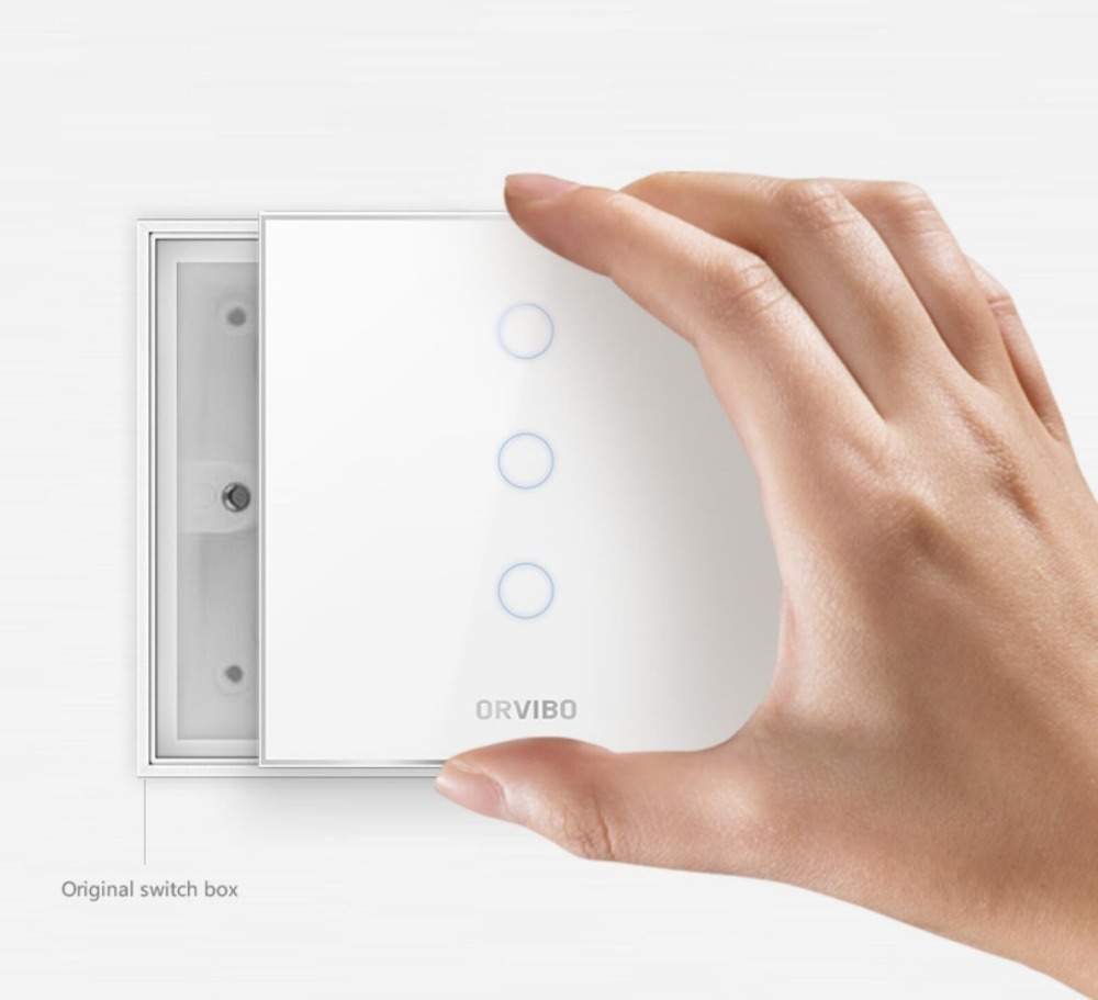 2018 Orvibo SMART SWITCHES - ZigBee wireless control switches Touch Classic Smart Switch HomeMate APP Supported 2018 orvibo geekrav zigbee smart switch zero