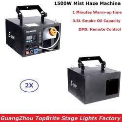 2 шт./лот новые 1500 Вт туман машина 3.5L дым машина DMX/Remote Управление хорошо для Dj Дискотека XMAS вечерние показывает проектор