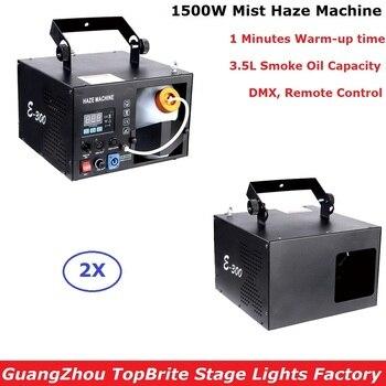 2 sztuk/partia najnowszy 1500W maszyna mgła Haze 3.5L maszyna do dymu DMX/pilot zdalnego sterowania dobre dla Dj Disco XMAS Party pokazuje projektor