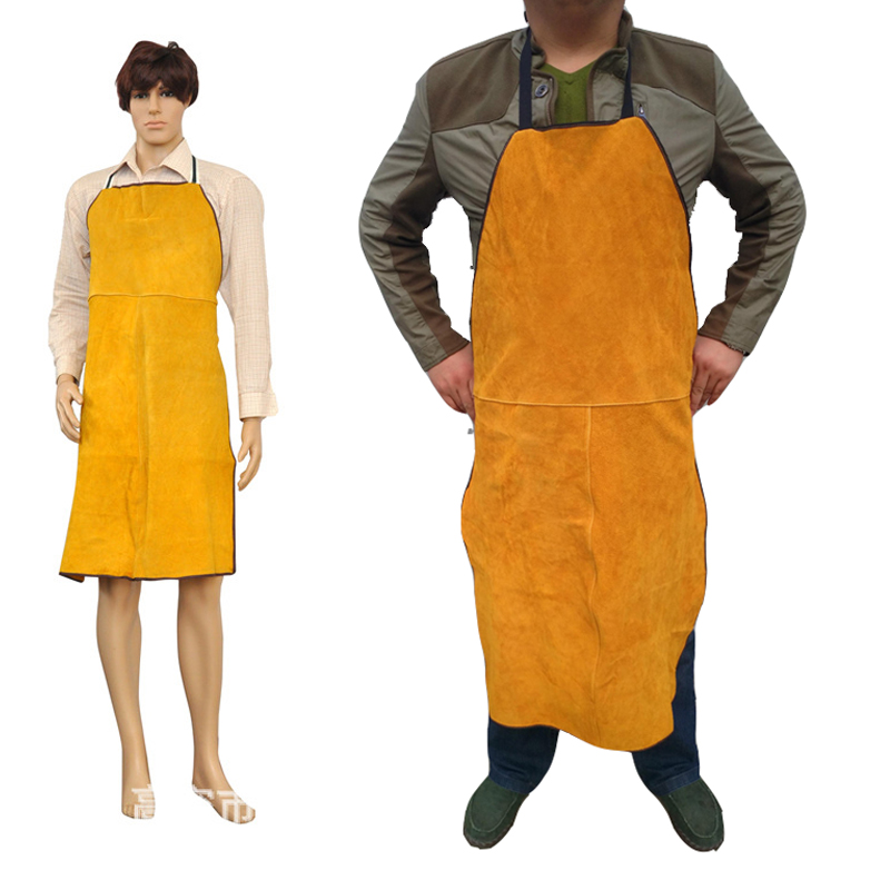 2020 Welding Apron Cow Suede Welders Leather Safety Bib Apron Labor Working Protective Clothing Heat Resistant Fire-resistant