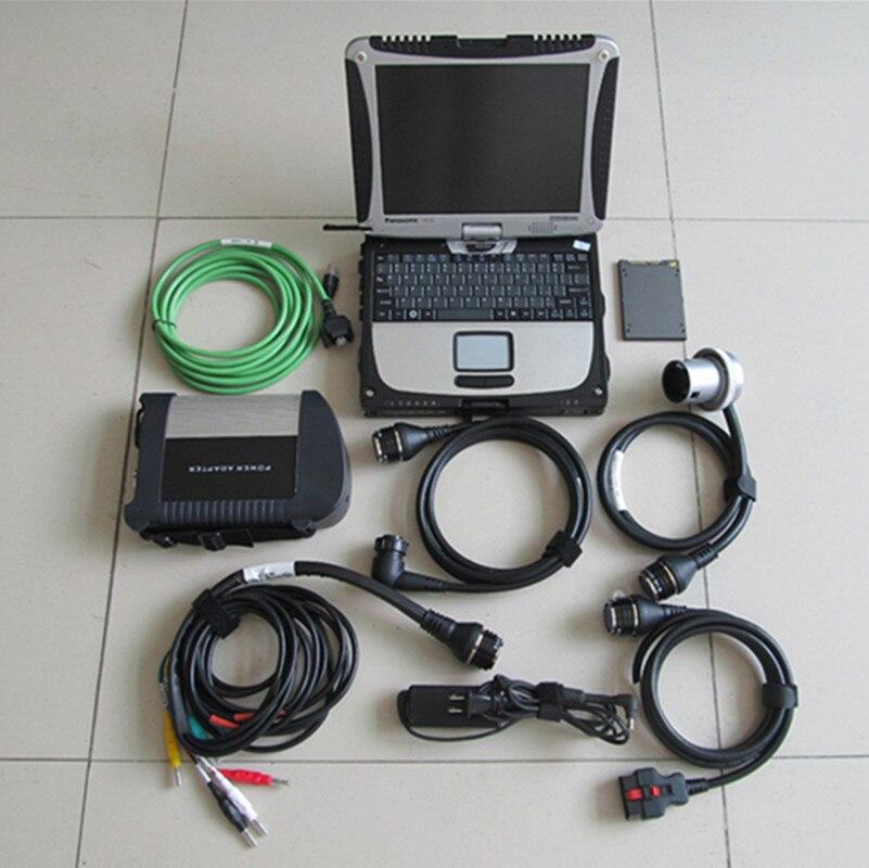 Wifi mb star c4 sd connect cf-19 ordinateur portable (i5 et 4g) + logiciel 2018.09 ssd ensemble complet pour étoile de diagnostic