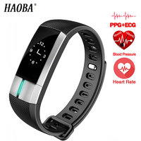 HAOBA Smart band ECG Monitor Sport Bracelet Blood Pressure Fitness Activity Tracker Wristband Pulsometro For Xiaomi Iphoe