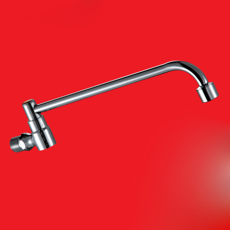 Free shipping Semi automatic single cold kitchen sink faucet with polished surfaucet inwall mounted kitchen sink