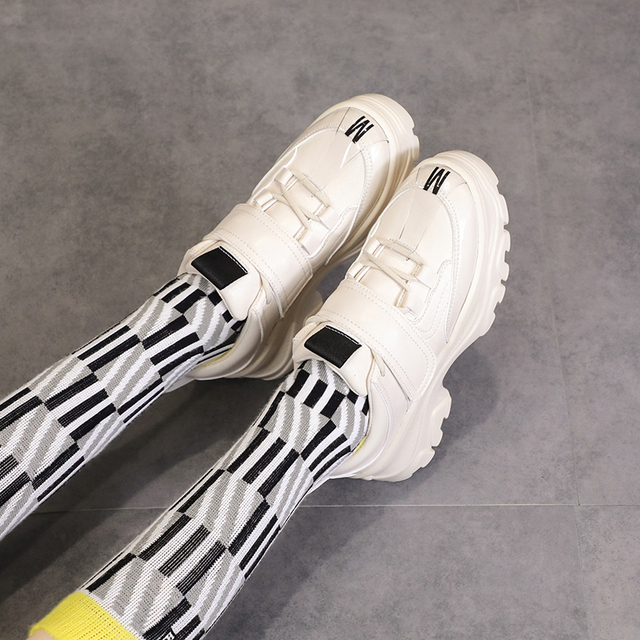 2019 new arrival trainers luxury women designers platform flat sneakers buckle trendy preppy street stylish shoes for young girl