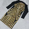 2017 Summer XXXL Plus Size Cuvre Bodycon Dress Geometric Gold Sequin Dress Curvy Womens Sexy Dresses Party Night Club Dress