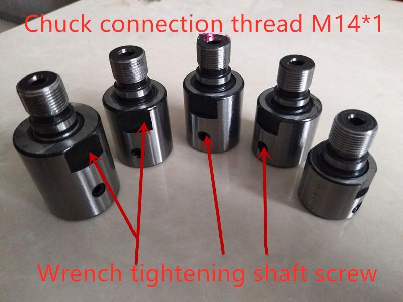 Aletler'ten Torna Ka.'de 8mm 10mm 12mm 14mm 15mm 16mm 19mm adaptörü M14 * 1 bağlantı çubuğu burç ağaç İşleme chuck torna tezgahı değirmeni DIY m14 adaptörü