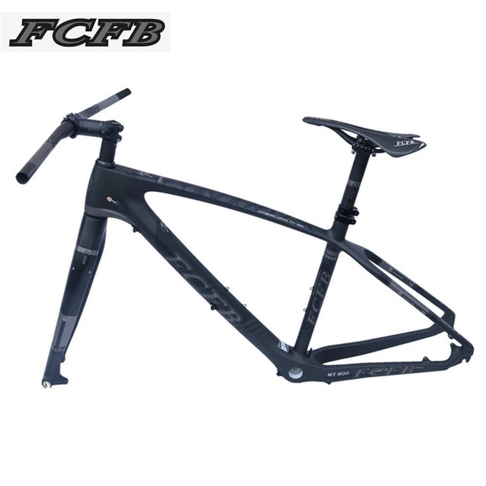 2017 FCFB T800 carbon mtb frame 27.5er mtb carbon frame 27.5/ 26 carbon mountain bike frame frok seatpost stem saddle matt color track frame fixed gear frame bsa carbon 1 1 2to 1 1 8 bike frameset with fork seatpost road carbon frames fixed gear frameset