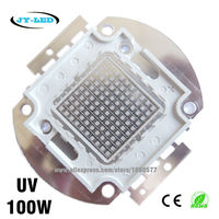 100W UV High Power Integrated COB LED, 3500mA DC32 34V Wavelength 365nm 380nm 395nm 400nm 410nm 430nm Purple Ultra Violet