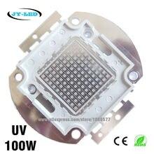 100W UV High Power Integrated COB LED, 3500mA DC32-34V Wavelength 365nm 380nm 395nm 400nm 410nm 430nm Purple Ultra Violet