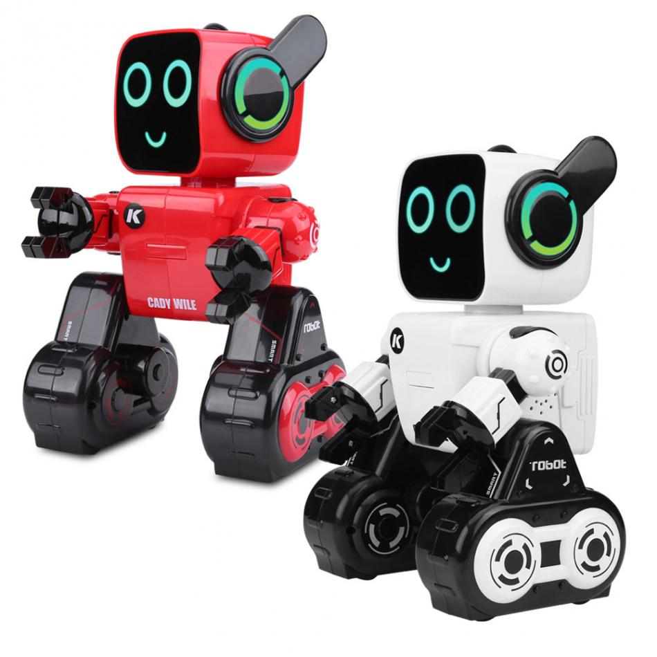 2Colors 2.4GHz RC Electronic Robot Toy Sing Dance Sound Control Children Robot Toy Remote Control Intelligent Toy Gift for Kids