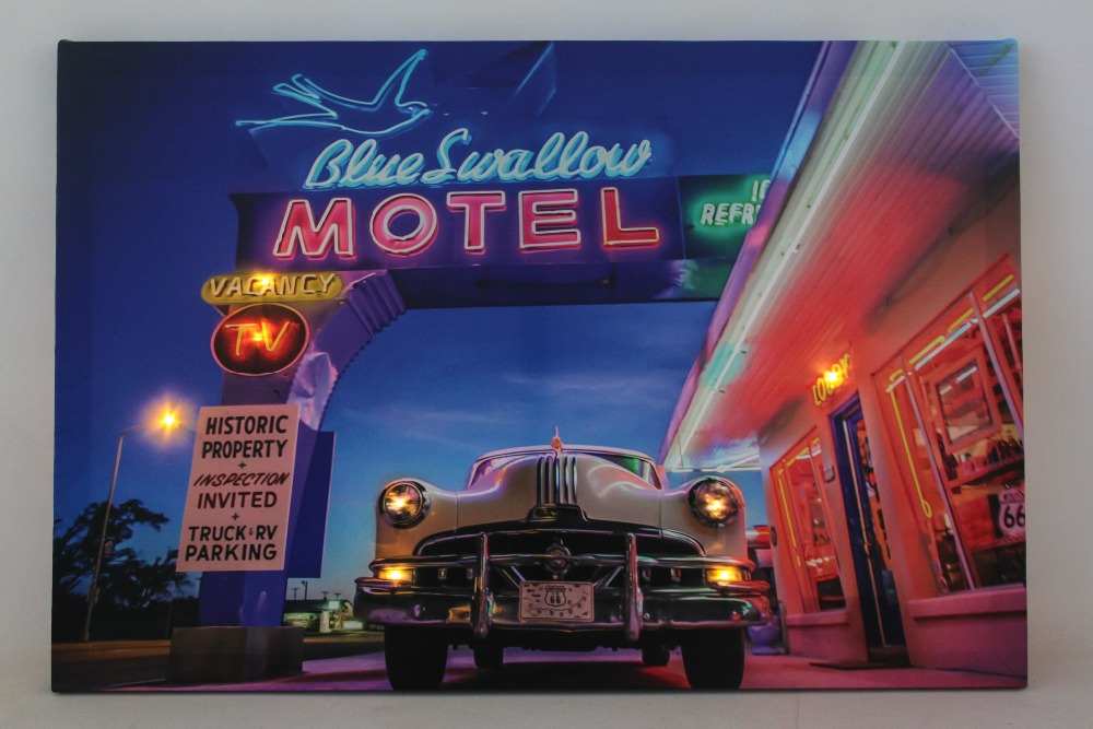 Modern Canvas Wall Art Car Pictures With Led Light