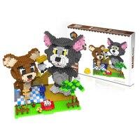 2017 Nanoblock Toy For Kids Aged 8+ Plastic Educational Brick Toys Big Size 3D Cartoon Design Micro Diamond Building Blocks Toy