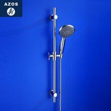 Azos душевая подставка латунь хром подъем и Осень одной функции поворотный кронштейн душ для купания комнаты круглый HSSJ018A