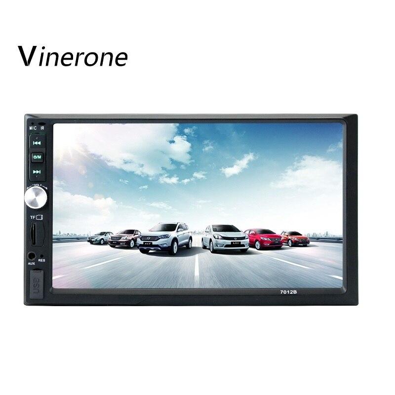Autoradio Vinerone 2 din 7 écran tactile HD 2din Autoradio Bluetooth MP5 lecteur multimédia de voiture USB AUX FM Audio de voiture