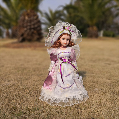 Hauteur 41 CM russe en céramique Style Victoria russie en céramique classique poupée décoration de la maison fille cadeaux ameublement