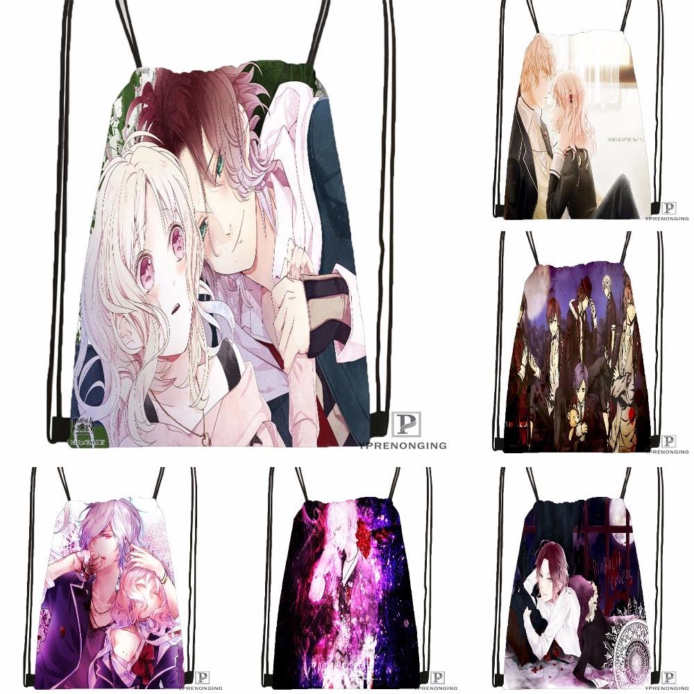 CustomDiabolik.Lovers. Haunted.dark. Drawstring Backpack Bag Cute Daypack Kids Satchel (Black Back) 31x40cm#180531-04-15