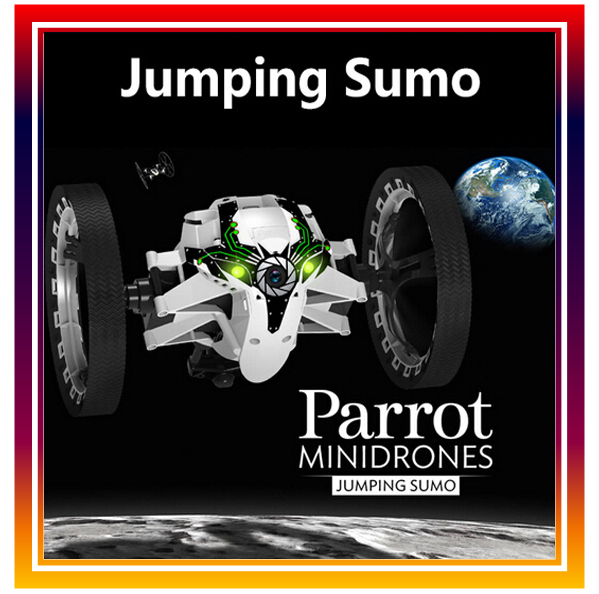 New Arrival Original Parrot Mini Drones Jumping Sumo RC Car Remote Control Car By iPhone / iPad with Camera Free Shipping parrot jumping sumo brown