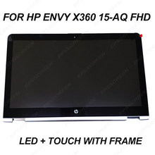 "สำหรับ HP ENVY x360 15-AQ 15.6 ""FHD LCD LED Touch Screen Assembly + Bezel 30 pin 1920*1080 LP156WF6-SPM2 digitizer แผงกรอบ(China)"
