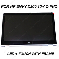 For HP ENVY x360 15 AQ 15.6 FHD LCD LED Touch Screen Assembly+Bezel 30 pin 1920*1080 LP156WF6 SPM2 digitizer panel with frame