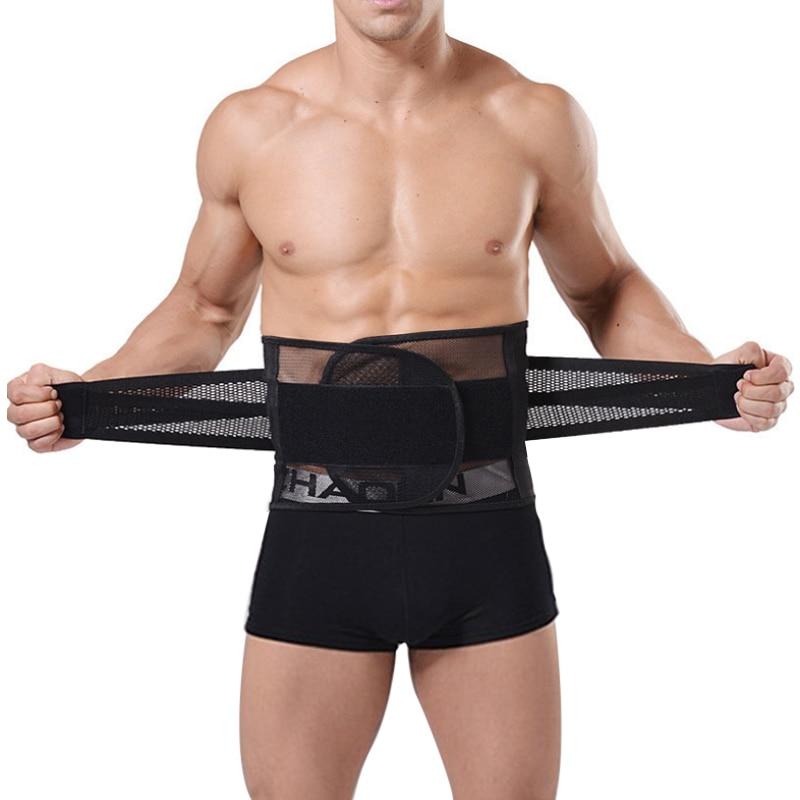 Φ_ΦTranspirable Cuerpo hombres Shaper adelgazamiento cinturón corsé ...