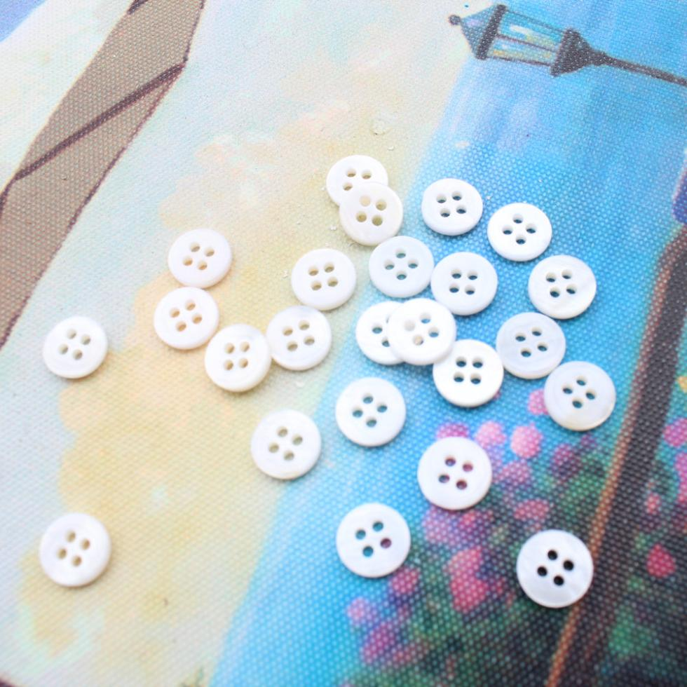 500pcs Vintage Mother Of Pearl Shell Buttons 16l 10mm Mother Of