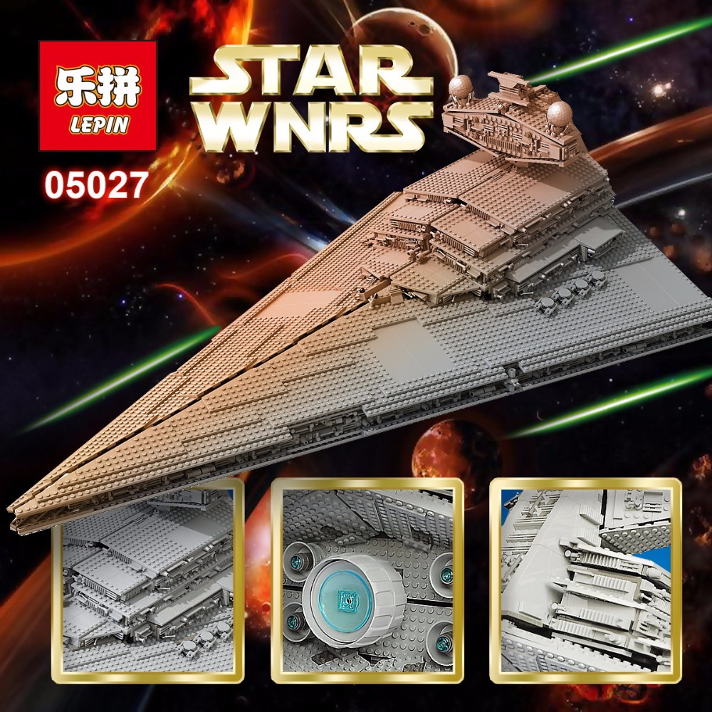 LEPIN 05027 3250pcs Star Series Wars Emperor Fighters Star Ship Model Building Blocks Bricks Assembling Toys Compatible 10030 enlighten building blocks navy frigate ship assembling building blocks military series blocks girls