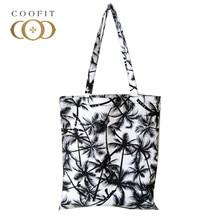 ebd7bd8d8a Coofit Canvas Beach Bag Summer Women Coconut Tree Printed Tote Bag Girls  Tote Handbag Large Capacity Fashion Casual Shopper Bags