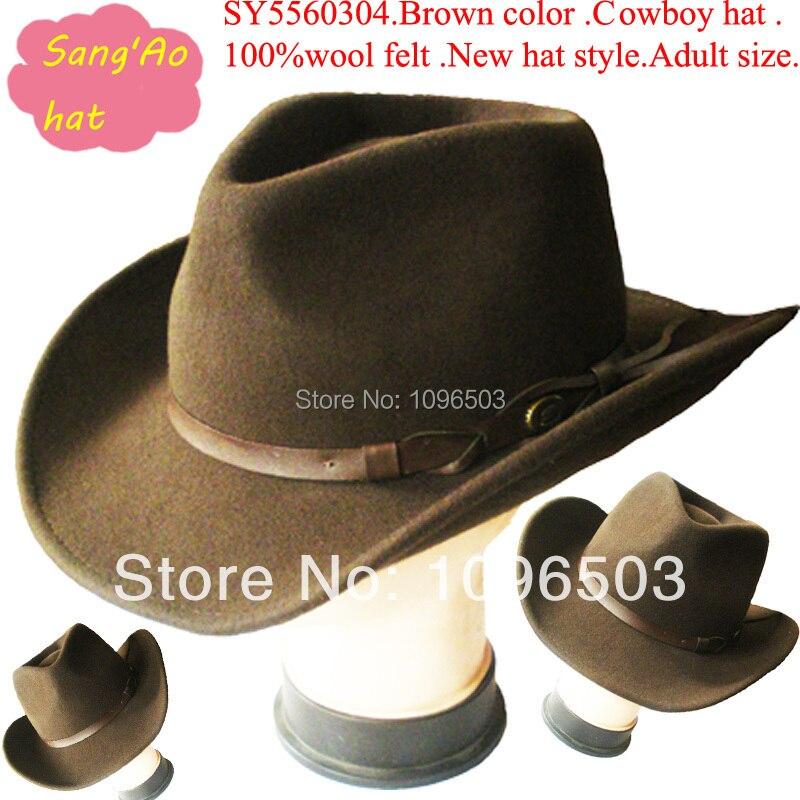 0d42d41ac3b87 Wholesale customized brown large felt cowboy hats wool fedora man alpine hat  fashin100wool felt wear as shepherd hat festival-in Cowboy Hats from  Apparel ...