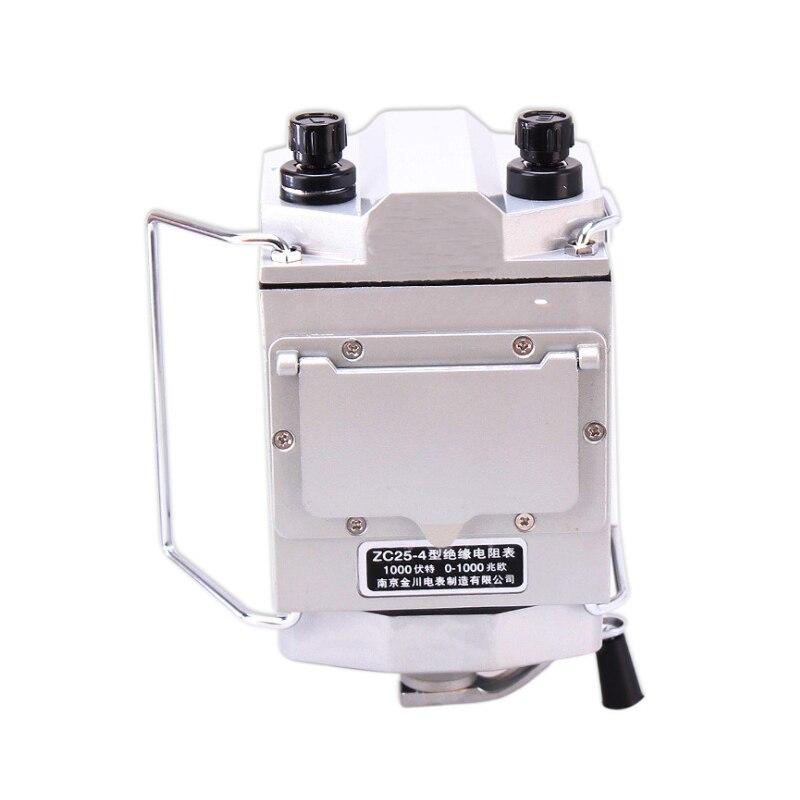 Resistance Meter Insulation Tester  Ohm With  Plastic 1000V 4 Megger High Megohm Quality  ZC25 Megohmmeter  1000M Case