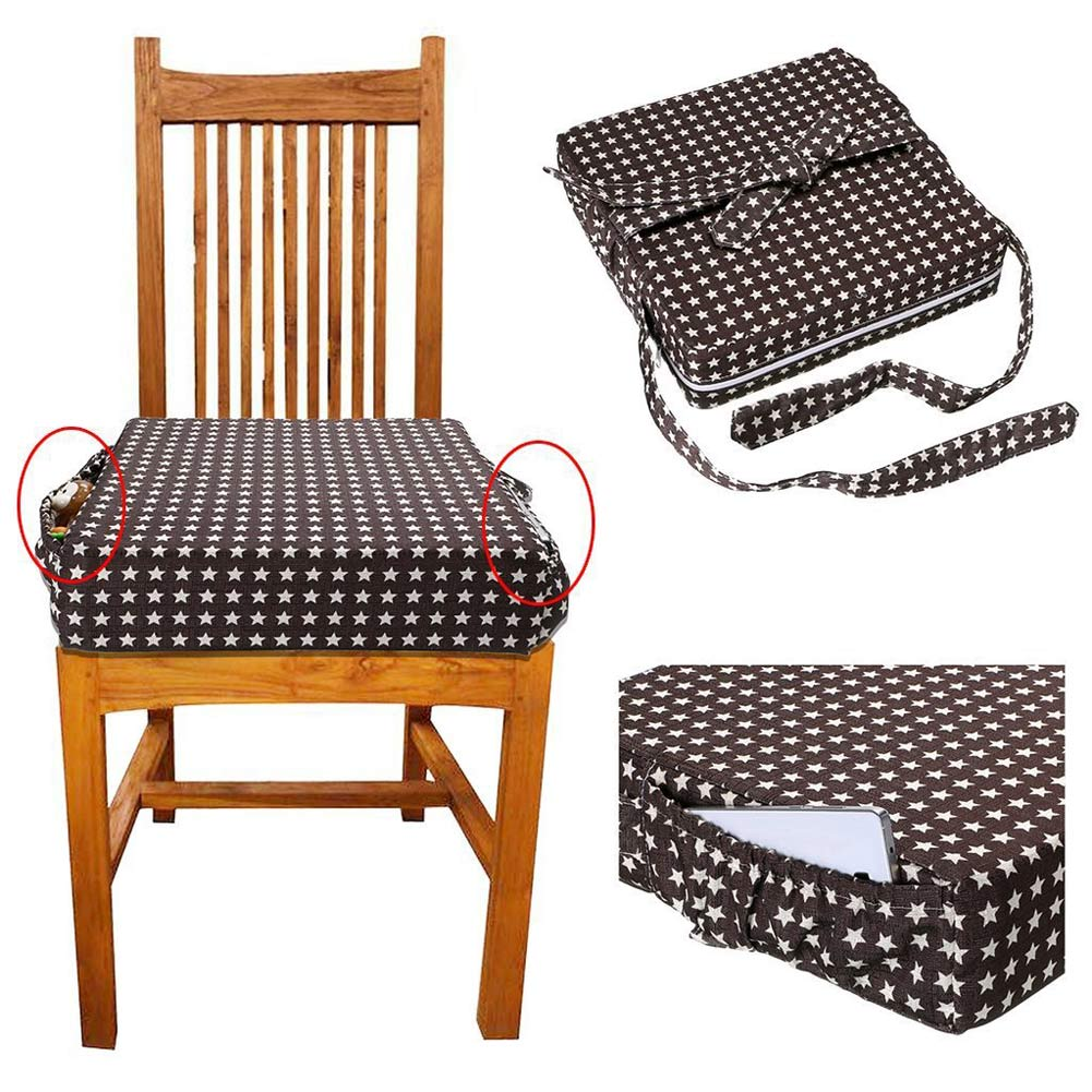 Baby Kids Chair Booster Cushion Highchair Increase Height Seat Pad Chair Cushions Mat @ZJF