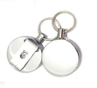 50 PCS Stainless Steel Retractable Key Chain Recoil Key Ring Heavy Duty Steel 60cm stainless steel rope nylon coating key clip-in Key Chains from Jewelry & Accessories    3