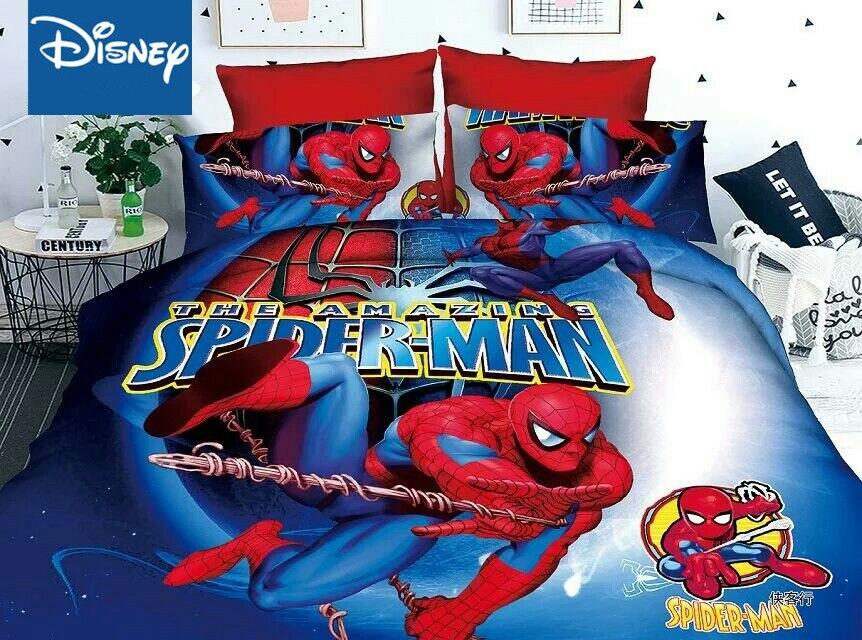 Marvel Hero Spider-Man Bedding Twin Size Bed Sheet Set For Boy's Quilt Duvet Covers Single Bedspread Children's Kids Linens