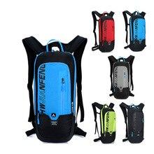 Backpack Men Breathable Waterproof Nylon Travel Bag Backpack With Water Bag Pocket Outdoor Motorcycle Hiking Riding Shoulder Bag