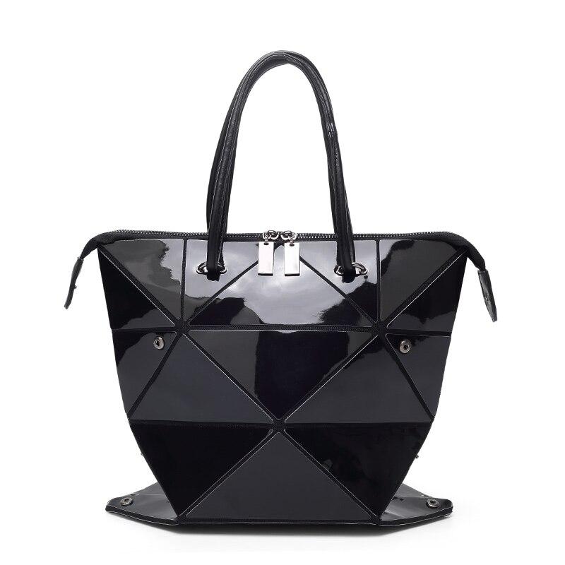 New Fashion Folded Women Handbags PU Leather BaoBao Bag Famous Designer  Geometric Shoulder Bag Issey Miyak ... 99275b57c86f9