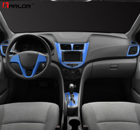 Automobiles Central Control Dashboard Panel Sticker Decal Car Styling For Hyundai Solaris Verna Accent 2011 2017