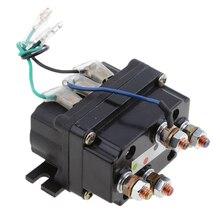 12V Sealed elektroniczny przekaźnik wciągarki stycznik elektromagnetyczny uniwersalna część dla ATV UTV Truck Car Auto czarny 80mm * 7.5mm * 40.5mm