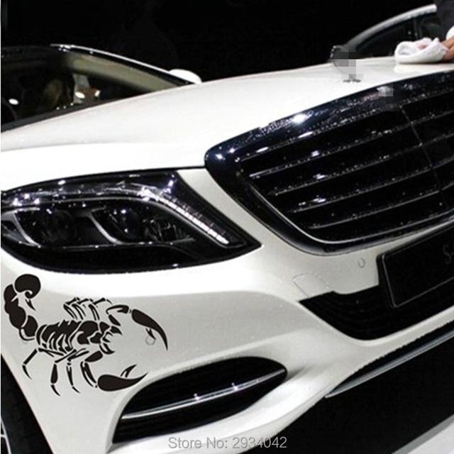 3d car styling car front cover cute scorpion car decoration stickers for hyundai elantra ix35