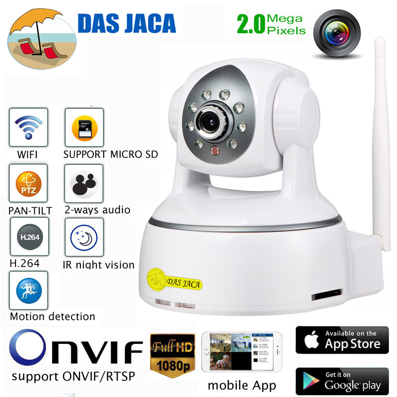 DasJaca onvif p2p 1080p IP camera PTZ Dome wifi ip surveillance camera sd baby monitor 2mp